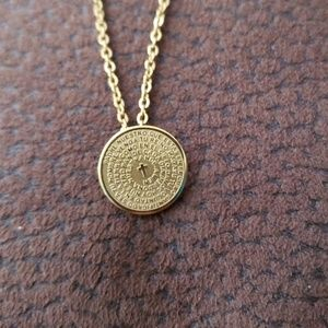 Jewelry - NWT Padre Nuestro necklace 24kgp
